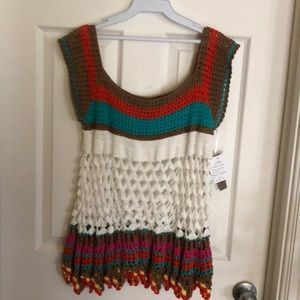 Sharon Young Crochet sweater
